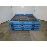"""Enersys 44""""W x 40""""D Forklift Battery Roller Conveyor Service Stand Lot Of 4"""