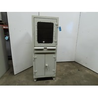 "Heavy Duty Harsh Environment Steel Security Computer Cabinet 26""x24""x62"""