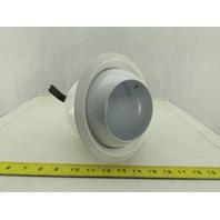 "Lithonia CE1 Trims 6"" Recessed Trim White Eyeball Light Fixture Damp Location"