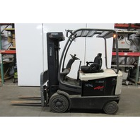 """Crown FC4520-50 Electric Forklift Truck 36V 188""""Lift 650Hrs SideShift 5000lb Cap"""