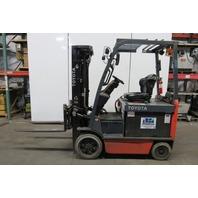 """Toyota 8FBCHU25 Electric Forklift Truck 48V 187"""" Lift Sideshift Fork Positioner"""