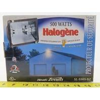 """Heath Zenith HZ-5505-BZ Quartz Halogen Floodlight 500W 120V 9-1/4"""" W 5-3/16"""" D"""