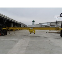 Yale 5 Ton Wire Rope Top Run Bridge Crane 33' Span 48' Run 23' Lift W/Remote