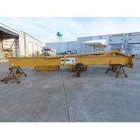 "2 Ton Cap 276"" Span 234"" Under Beam 360° Power Rotation Free Standing JIB Crane"