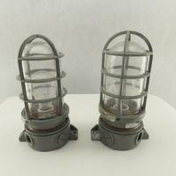 Killark VXFC-100-N34 Explosion Proof Light Fixture /Globe/Guard 150W Lot of 2