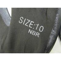 Cotton Poly Blend Glove with Nitrile Palm Coating Size 10 SDN-13PL-BK10 BK NIB