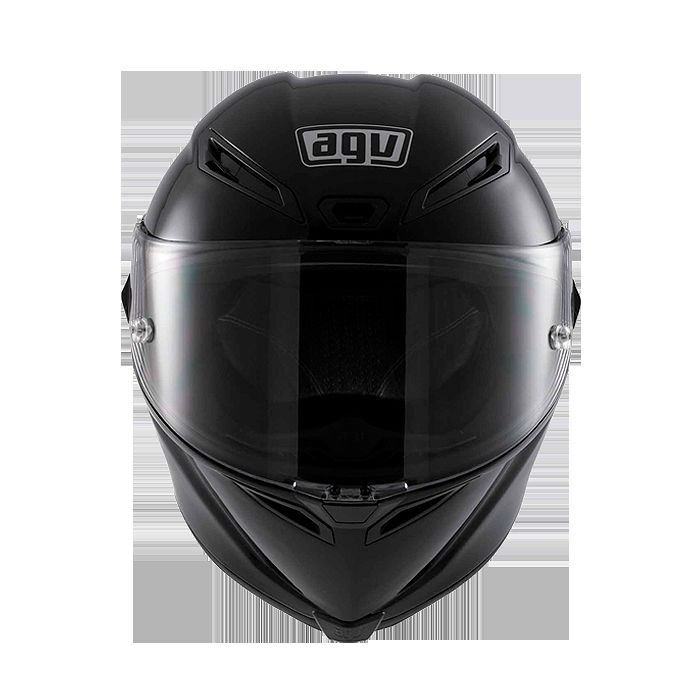 New agv Corsa Mono Black Full Face Kevlar Carbon Fiber Motorcycle ...