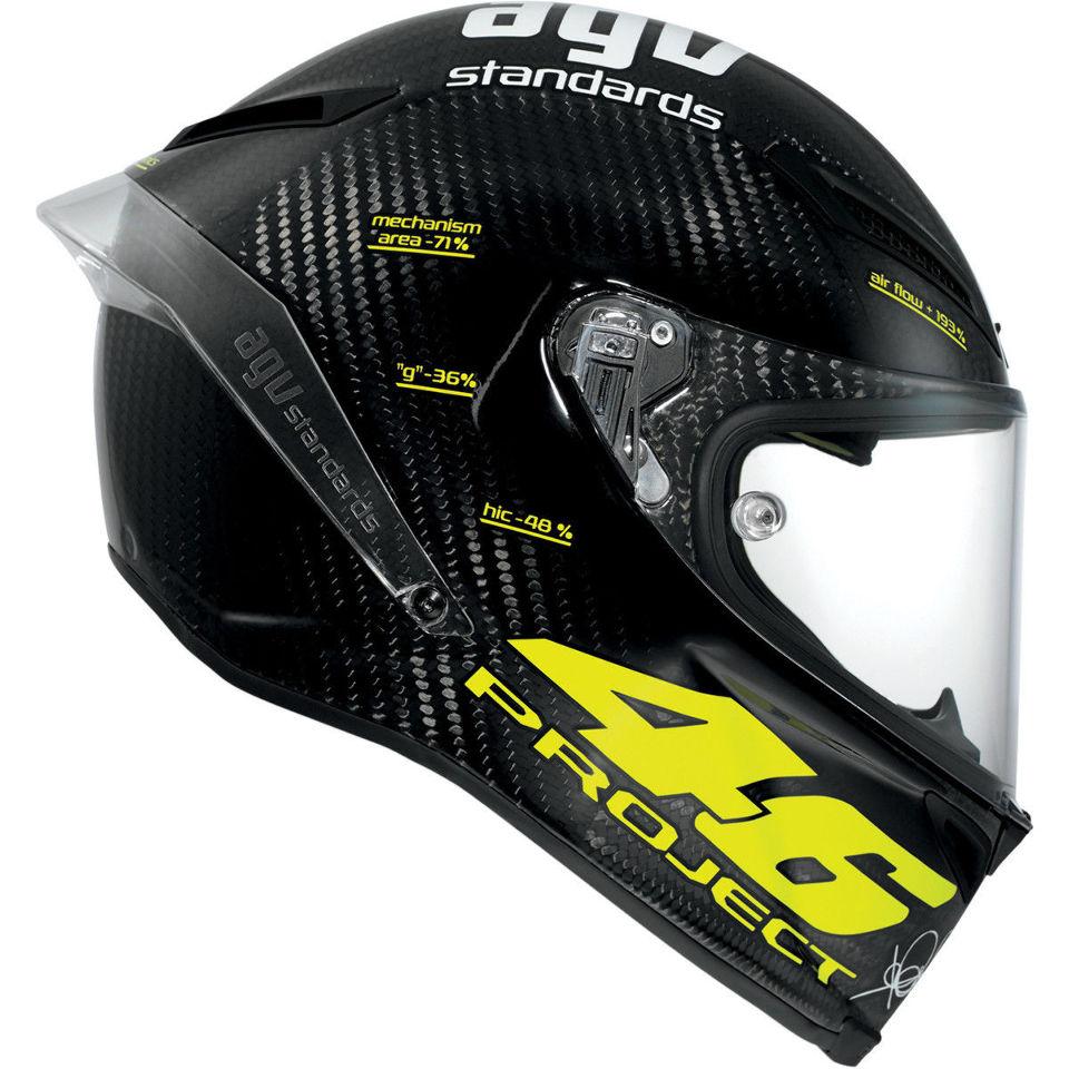 agv pista gp project 46 carbon fiber fullface motorcycle race helmet ebay. Black Bedroom Furniture Sets. Home Design Ideas