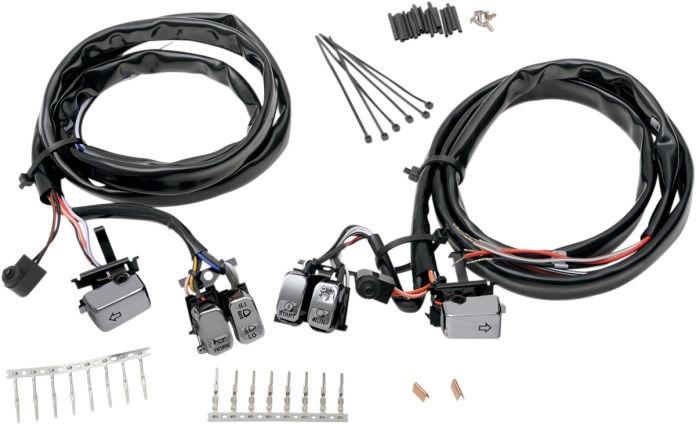 drag specialties chrome led handlebar switch kit 96