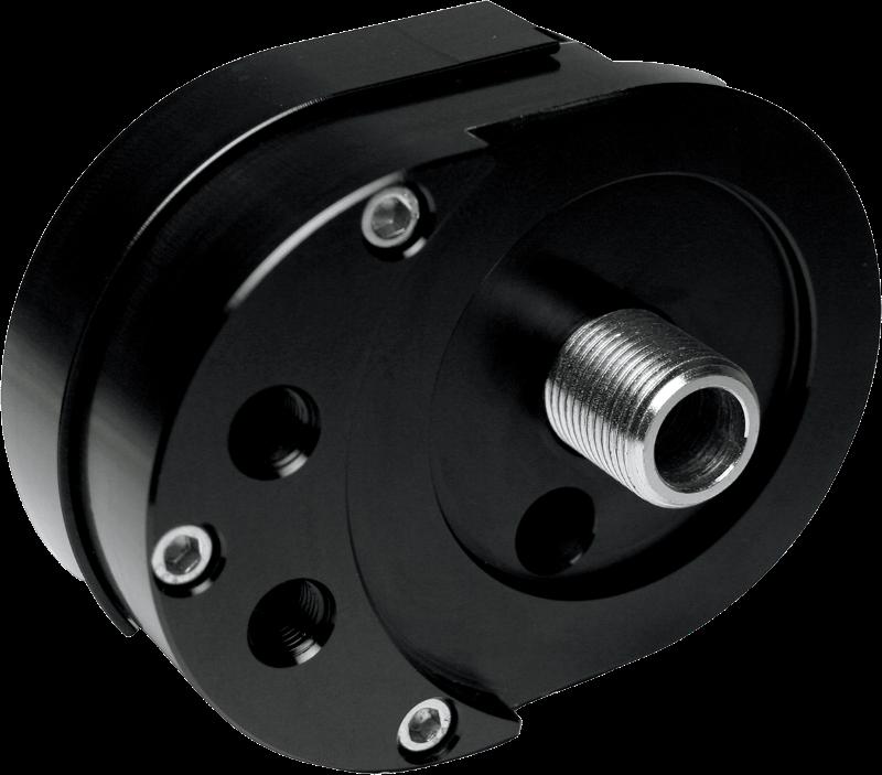 feuling black offset motorcycle oil filter mount 99 16. Black Bedroom Furniture Sets. Home Design Ideas