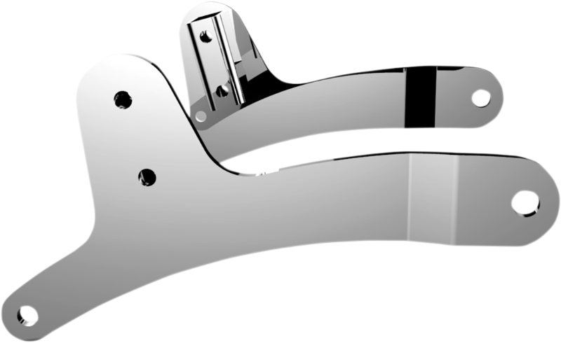 Drag Specialties Chrome Tall Sissybar Sideplate Kit 79 93