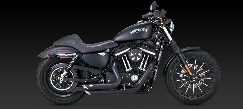 Harley Davidson Iron  Black With Vance Hines Shortshots