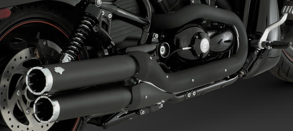 Widow Slip Ons For 2012 Harley Davidson Night Rod Special: VANCE & HINES WIDOW BLACK SLIP-ON MUFFLERS EXHAUST 06-17