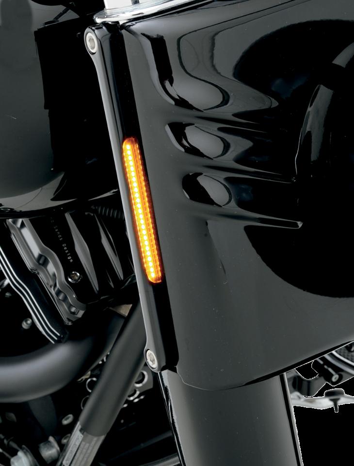 alloy art black front led amber turn signals smoked lens. Black Bedroom Furniture Sets. Home Design Ideas