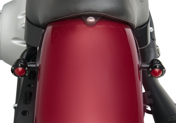 Harley Davidson Windshields >> NEW RED SMALL BLACK TRACKER TURN SIGNALS HOUSING RSD HARLEY DAVIDSON 0207-2019-B | JT's CYCLES