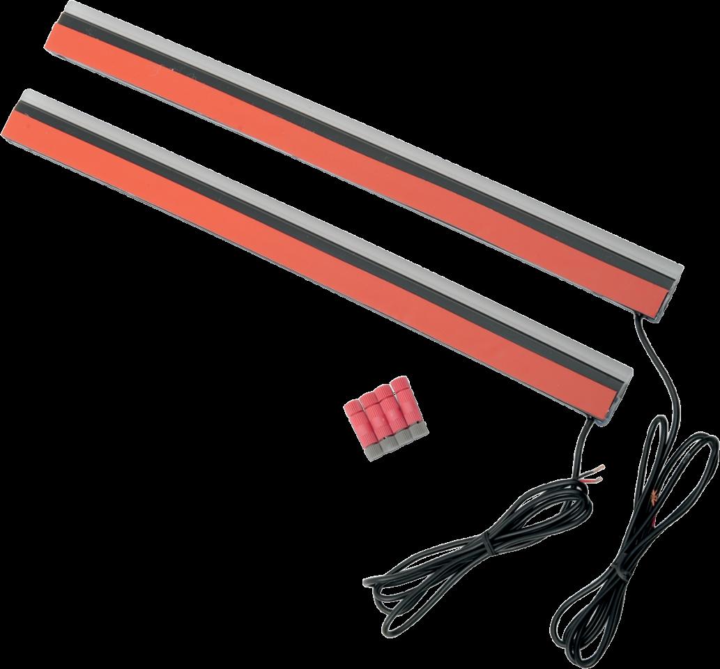 Pair Custom Dynamics 12 Quot Red Led Smoke Lens Plasma Rods