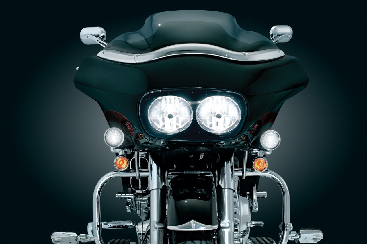 kuryakyn black fairing mounted drive lights turn signals. Black Bedroom Furniture Sets. Home Design Ideas