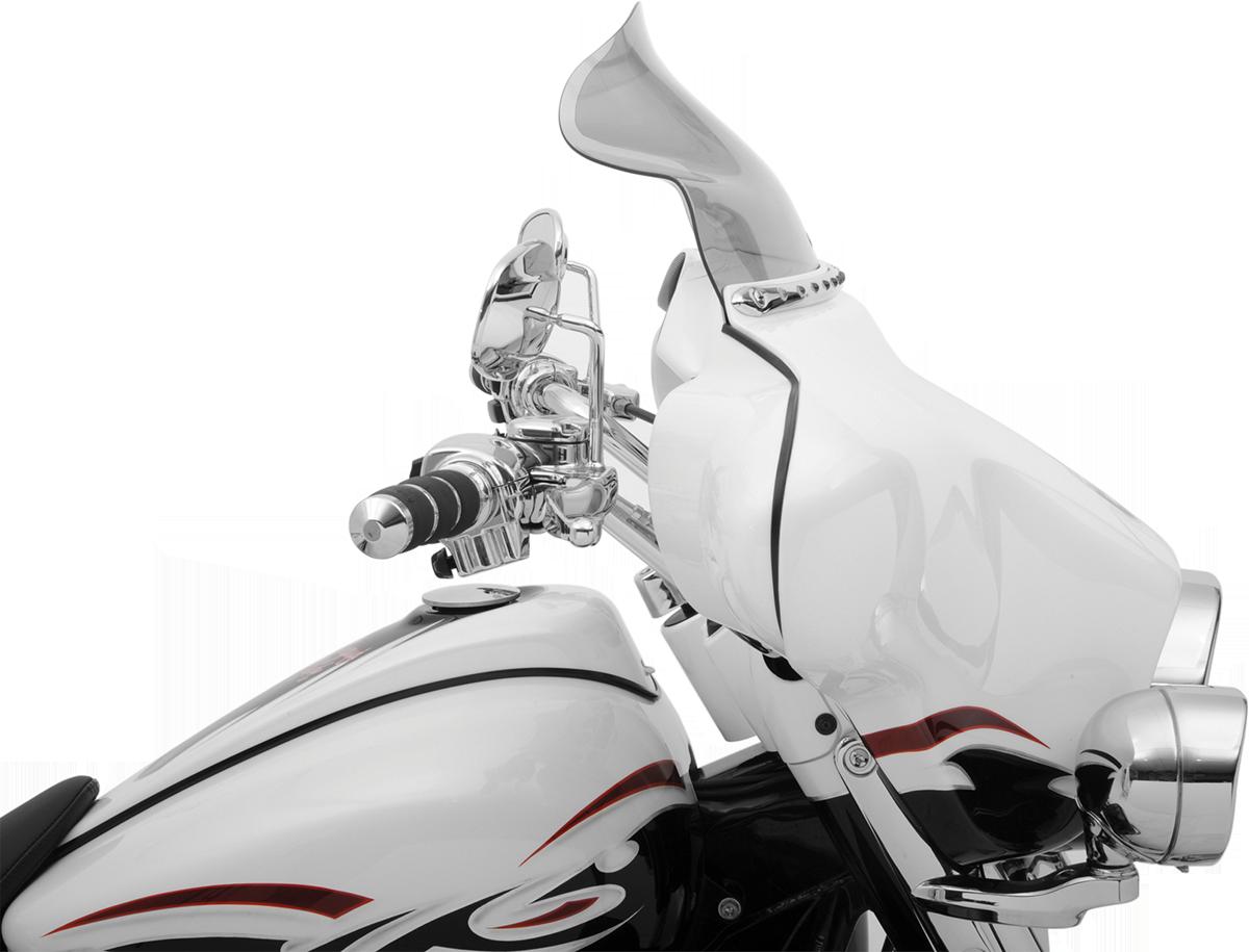 "Klock Werks 8.5/"" Dark Smoke Flare Windshield for Harley FLHT FLHX Trike 96-13"
