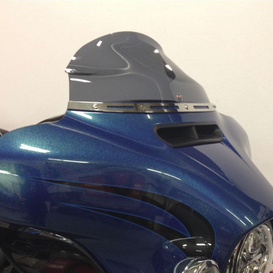 "Flare 6.5"" tint windshield 14-15 2014 2015 Harley Touring FLHT FLHX"