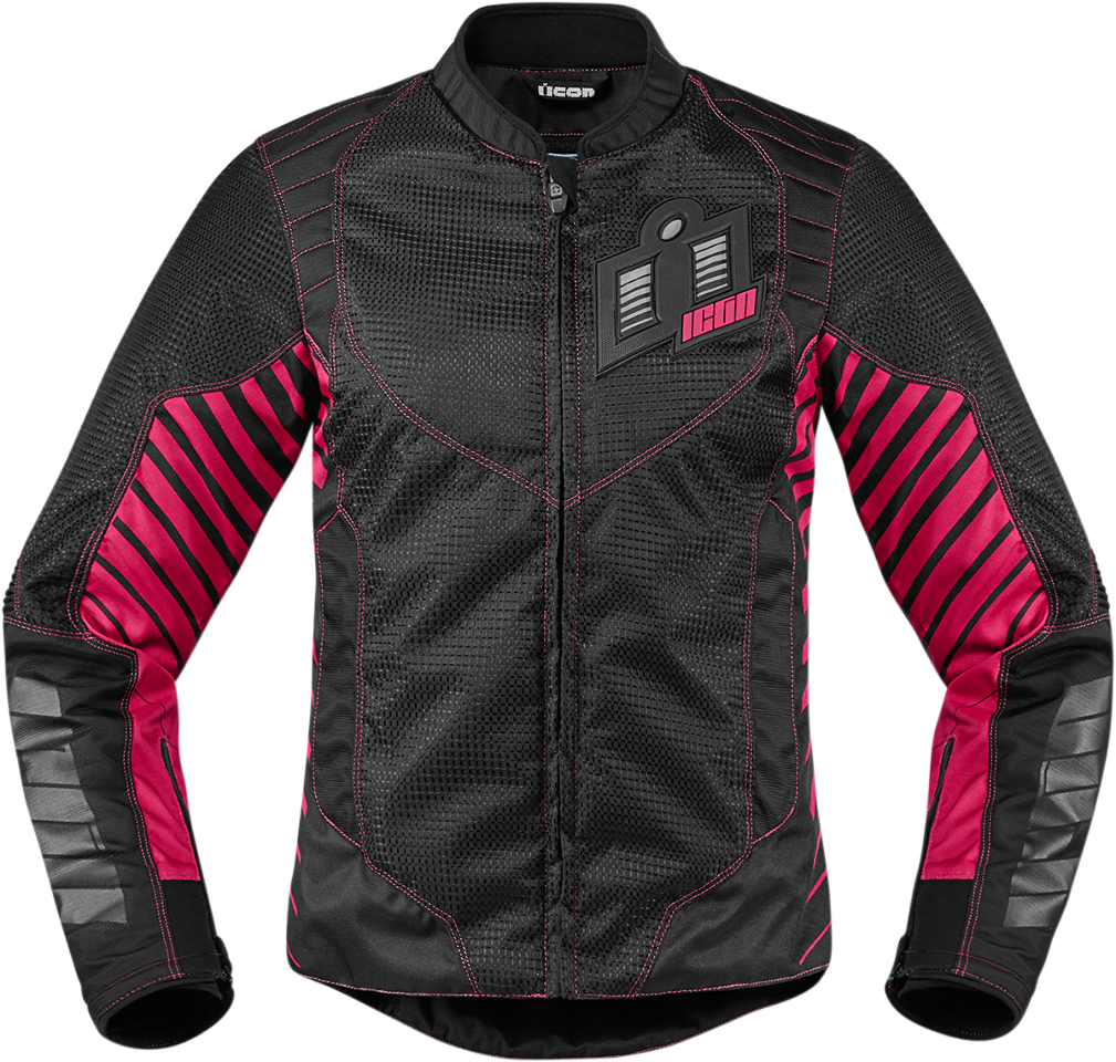 womens icon pink wireform textile motorcycle riding jacket. Black Bedroom Furniture Sets. Home Design Ideas