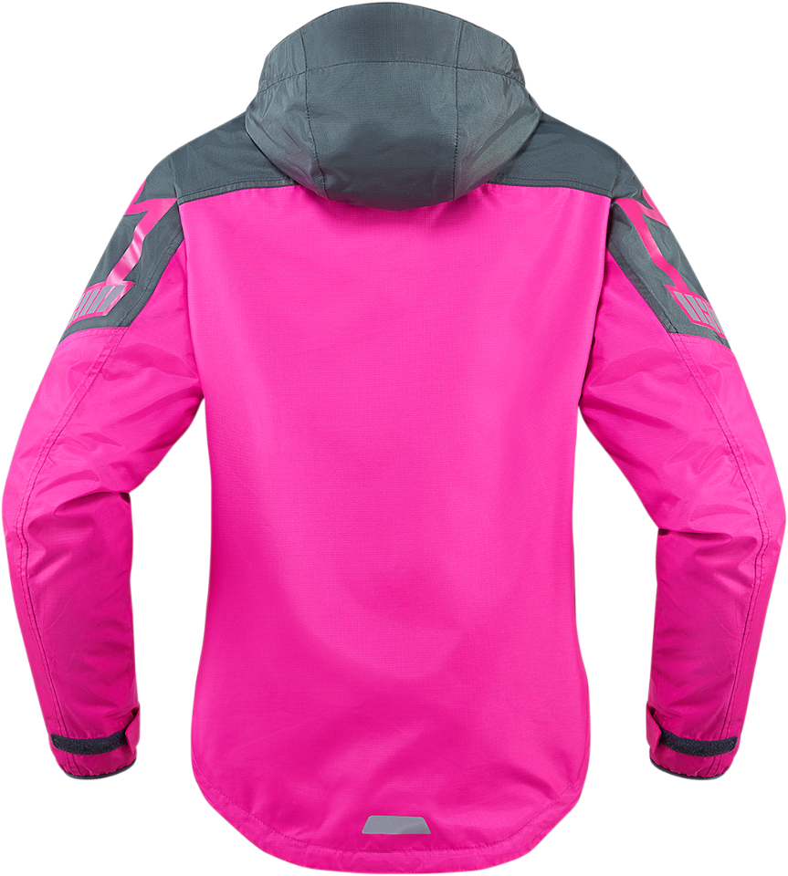 Womens icon pink textile pdx 2 motorcycle riding rain for Motor cycle rain gear