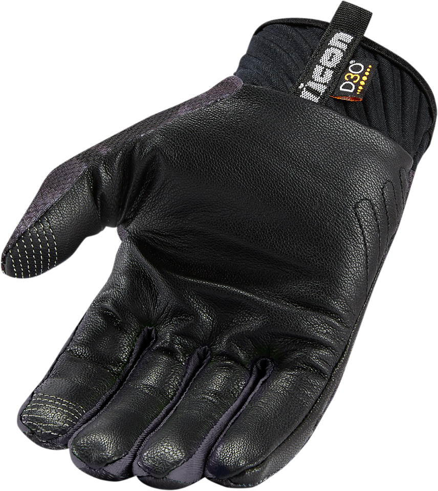 Black gloves mens -  Mens Icon Black Anthem Textile Motorcycle Riding Street Racing Vented Gloves