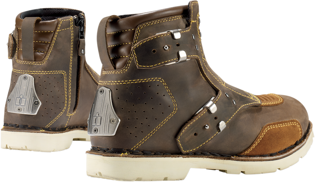 Joey Alphinestar Shoes in addition Icon El Bajo Motorcycle Boot Black in addition Icon El Bajo And Elsinore Boots likewise N as well Mens Icon Brown Leather El Bajo Motorcycle Riding Street Racing Boots. on icon 1000 el bajo boot