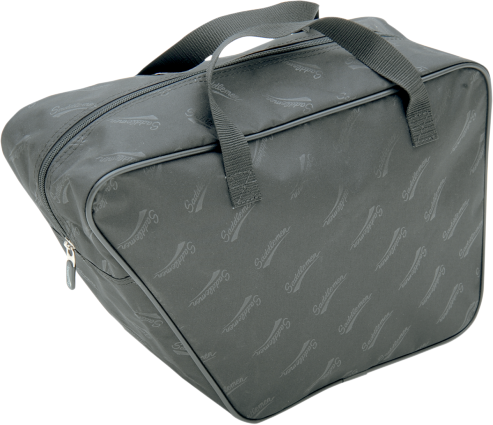 Saddlemen black textile saddlebag liner use with reda gas can harley