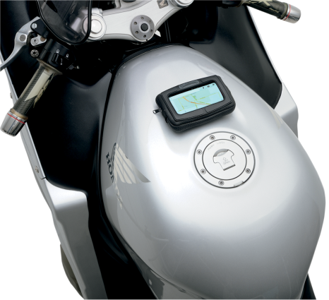 Saddlemen E-Pack Black Universal Magnetic Motorcycle Zipper GPS Tank Bag Harley