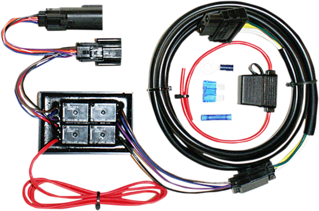 8 wire trailer harness 5 wire trailer harness khrome werks 8 pin trailer wiring harness kit 15-16 harley ...