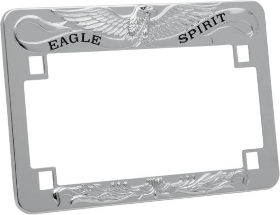 drag specialties eagle spirit license plate frame harley davidson fxd flh fxr xl