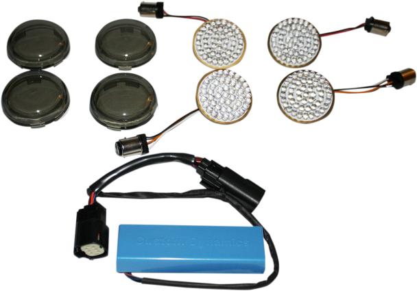 custom dynamics smoke led dual turn signal conversion kit. Black Bedroom Furniture Sets. Home Design Ideas