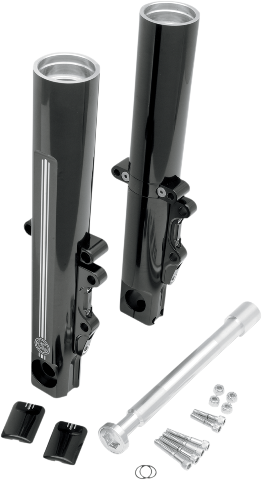 Performance Machine Dual Disc Black Lower Fork Legs for 00-07 Harley Touring