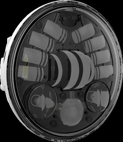 Jw Speaker Black 5 3 4 Clear Lens Led Motorcycle Headlight