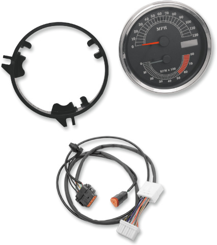 Dash & Gauges | JT's CYCLES Harley Odometer Wiring Harness on harley dash wiring, harley motorcycle stereo amplifier, harley wiring connectors, harley timing chain, harley banjo bolt, harley crankcase, harley clutch diaphragm spring, harley belly pan, harley headlight harness, harley stator wiring, harley dash kit, harley clutch rod, harley tow bar, harley bluetooth interface, harley headlight adapter, harley choke lever, harley trunk latch, harley wiring color codes, harley wiring kit, harley wiring tools,
