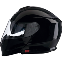 Z1R Gloss Black Unisex Solaris Modular Fullface Motorcycle Riding Street Helmet