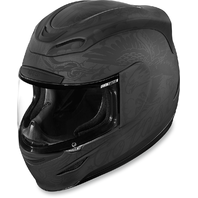 Icon Airmada Gloss Black Unisex Scrawl Full Face Motorcycle Riding Street Helmet