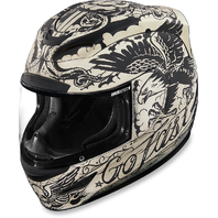 Icon Airmada Gloss White Unisex Scrawl Full Face Motorcycle Riding Street Helmet