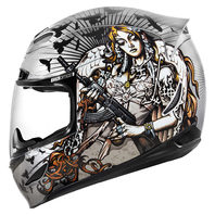 Icon Unisex Sliver Nikova 2 Airmada Full Face Motorcycle Riding Street Helmet