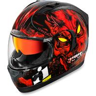 Icon Unisex Alliance Red Horror Fullface Motorcycle Riding Street Racing Helmet