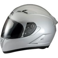 Z1R Strike Ops Gloss Sliver Full Face Motorcycle Riding Street Racing Helmet
