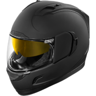 Icon Black Rubatone Alliance GT Motorcycle Full Face Drop Shield Riding Helmet