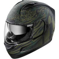 Icon Green Operator Full Face Shield Motorcycle Riding Street Racing Helmet DOT