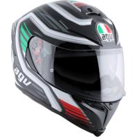 Agv Unisex Green Red White K5 Full Face Motorcycle Street Race Italy Helmet