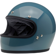 Biltwell Gringo Gloss Baja Blue DOT Motorcycle Full Face Street Racing Helmet