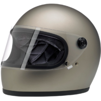Biltwell Gringo S Flat Gray Motorcycle Full Face Street Riding Helmet Harley