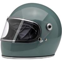 Biltwell Gringo S Gloss Blue Motorcycle Full Face Street Riding Helmet Harley