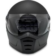 Biltwell Flat Black Lane Splitter Fullface Motorcycle Street Racing Helmet