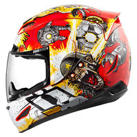 Icon Airmada Unisex Monkey Business Full Face Motorcycle Street Racing Helmet