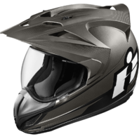 Mens Icon Black Double Stack Variant Fullface Motorcycle Riding Street Helmet